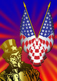 Uncle Sam with flag Royalty Free Stock Photos