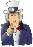 Uncle Sam Flipping The Bird Stock Images
