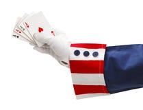 Uncle Sam Four Aces Stock Images