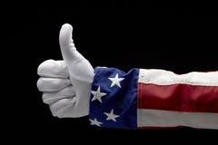 Uncle Sam gives a Thumb's Up. Close up shot of Uncle Sam giving the Thumb's Up sign royalty free stock image