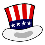 Uncle Sam hat. Isolated over white background Stock Photos