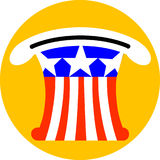 Uncle Sam Hat. With stars and stripes turned upside down Royalty Free Stock Photography