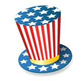 Uncle Sam Hat. Fully editable vector illustration Stock Image