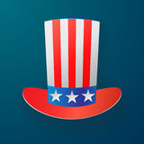 Uncle Sam Hat. American hat icon Stock Image