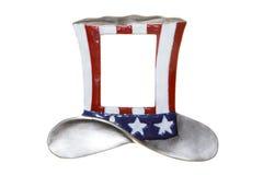 Uncle sam hat cylinder isolated Royalty Free Stock Photo