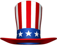 Uncle sam hat. 3D rendering of a uncle sam hat Stock Photos