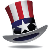 Uncle Sam Hat. EPS 10 vector. Illustration Royalty Free Stock Images