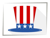 Uncle Sam Hat. Flat. Vector illustration. Uncle Sam Hat. Holiday hat Royalty Free Stock Image