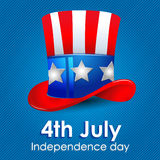 Uncle Sam hat. Hat of Uncle Sam: Independence day illustration Royalty Free Stock Image