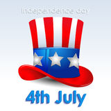 Uncle Sam hat. Independence day vector illustration Stock Photo