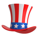 Uncle sam hat. Uncle sam hat isolated on white Stock Photo