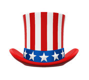 Uncle Sam Hat. Isolated on white background. 3D render Stock Photography