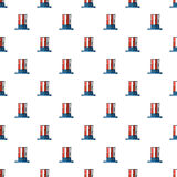 Uncle Sam hat seamless pattern. Royalty Free Stock Photos