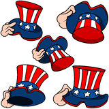 Uncle Sam Hat Set Stock Images