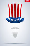 Uncle Sam hat. Vector Illustration. Stock Photos