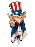 Uncle Sam 'I Want You' Stock Images
