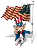 Uncle Sam I Want You - Betsy Ross Flag Stock Image