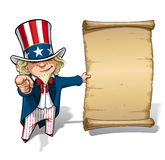 Uncle Sam I Want You Declaration Royalty Free Stock Image