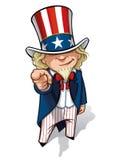Uncle Sam ?Ich wünsche Sie? lizenzfreie abbildung