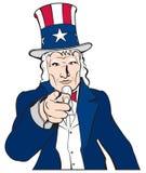 Uncle Sam - Ich wünsche Sie Lizenzfreie Stockfotografie