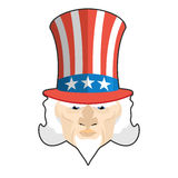 Uncle Sam icon. Patriotic American hero. USA National Male. Illu Stock Photo