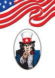 Uncle Sam Im Weiß Lizenzfreie Stockfotografie