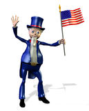 Uncle Sam - includes clipping path Royalty Free Stock Photos