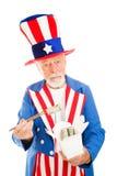 Uncle Sam Isst Dim Sum Stockfotografie