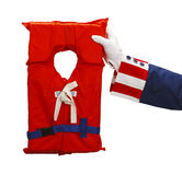 Uncle Sam Life Vest Royalty Free Stock Images