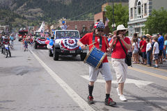 Uncle Sam marches in July 4 Independence Day Parade Royalty Free Stock Photo