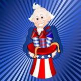Uncle Sam Mit Feuerwerken Lizenzfreie Stockbilder