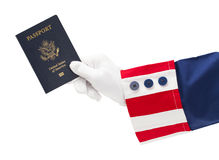 Uncle Sam Passport Stock Images