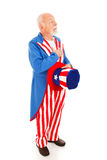 Uncle Sam - Pledge of Allegiance Stock Photos