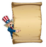 Uncle Sam Pointing at Declaration Royalty Free Stock Images