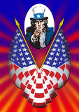 Uncle Sam poster. Uncle Sam in the classic I Want You pose for poster Royalty Free Stock Photo
