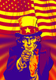 Uncle Sam in red Stock Photos
