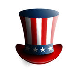 Uncle Sam`s hat. Symbol of freedom and liberty. Vector illustration  on white background. Stock Photos