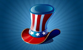 Uncle Sam's hat. Usa top hat for independence day  illustration isolated Royalty Free Stock Images