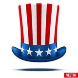 Uncle Sam's hat. Vector Illustration. Royalty Free Stock Photo