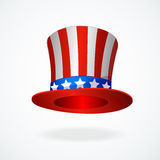 Uncle Sam's hat vector. 4 of July celebration icon.  Stock Photography