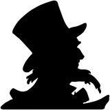Uncle Sam Silhouette Stock Photography