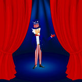 Uncle sam on stage Royalty Free Stock Photos