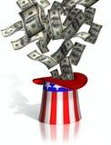Uncle Sam Steuern erhebend Lizenzfreie Stockfotografie