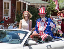 Uncle Sam on 4th of July stock photography
