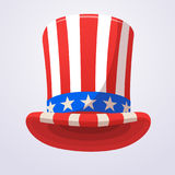 Uncle Sam top hat icon. Cartoon illustration for American Independence Day. Design for decoration or print. Uncle Sam top hat icon. Cartoon illustration for Royalty Free Stock Photos