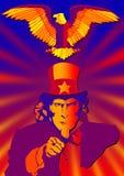 Uncle Sam Und Adler lizenzfreie stockfotografie