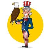 Uncle Sam Und Adler Lizenzfreies Stockfoto