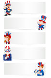 Uncle Sam Vector Banners Royalty Free Stock Image