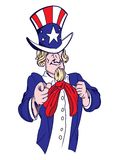 Uncle Sam. Vector illustration of the Uncle Sam Stock Photos