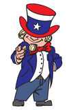 Uncle Sam. Vector illustration of the Uncle Sam Stock Photography